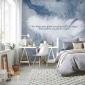北欧简约手绘羽毛无纺布墙纸卧室沙发客厅电视背景墙奶茶店壁画